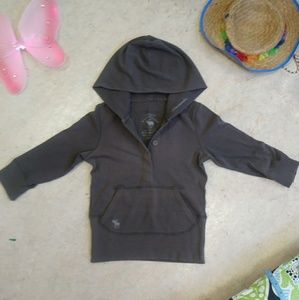 Abercrombie & Fitch Gray Hooded Top size Medium